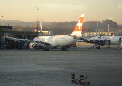 Аэропорт в цюрихе в 5 утра